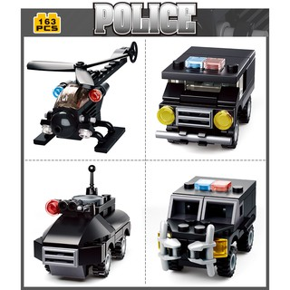 35-326PCS Sluban Building Blocks Educational Kids Construction Toy City Police B0595