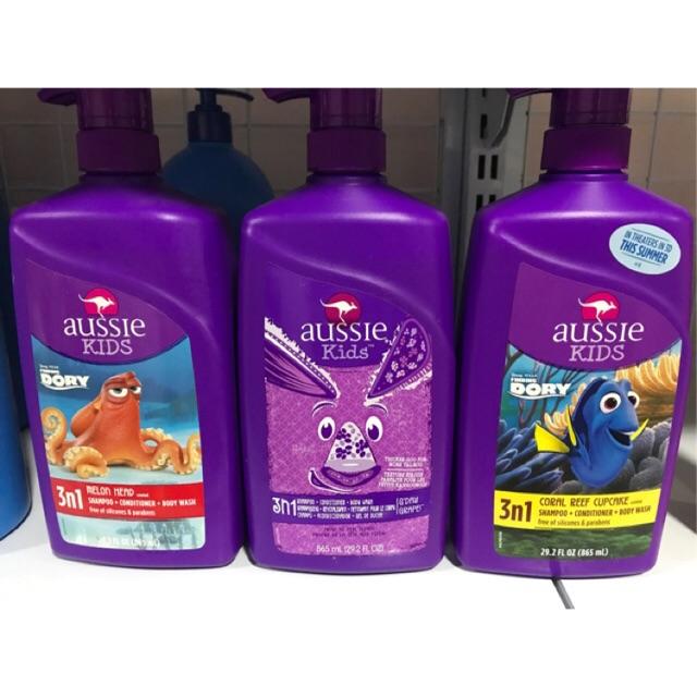 Tắm gội Aussie Kids 3 in 1 Shampoo + Conditioner & Bodywash 865ml của Mỹ