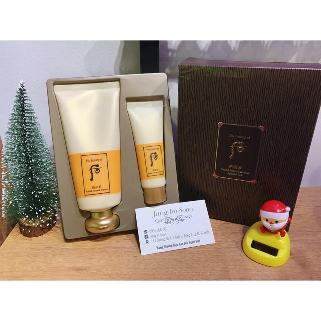??Set Sữa Rửa Mặt dưỡng ẩm Whoo Gongjinhyang Facial Foam Cleanser