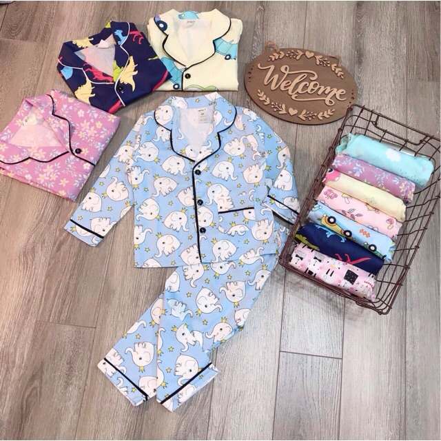 Pijama thô hàn bé trai/gái(9-