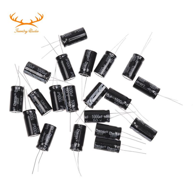 Set 20 tụ điện 1000uf 50V 105c 13x25mm chuyên dụng