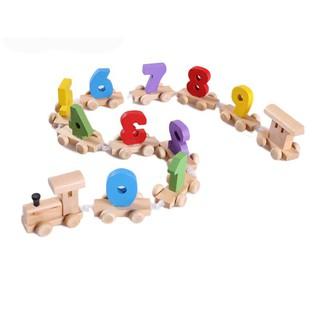 Đồ choi gỗ đoàn tào hỏa kéo số giúp bé học số nhanh hơn, dễ nhớ hơn
