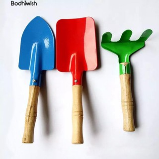 ☎3Pcs Kids Trowel Rake Shovel Kids Garden Tool Set bauble