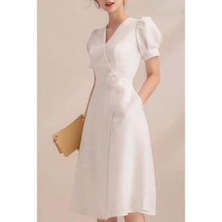 Đầm Xòe Đắp Chéo Cài Hoa Misa Fashion Sang Trọng, Nữ Tính, Giá Rẻ - MS380 thumbnail