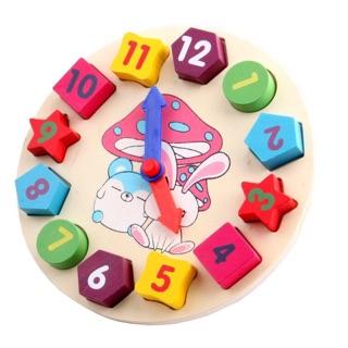 Đồng hồ hình khối mini- đồ chơi gỗ