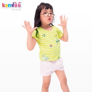 Áo T-shirt bé gái KANDOO màu vàng, in hình đáng yêu, 100% cotton cao cấp mềm mịn, thoáng mát, an toàn cho bé - DGTS1722