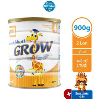 [Tặng Balo Hươu] Bộ 02 lon Sữa bột Abbott Grow 4 900g