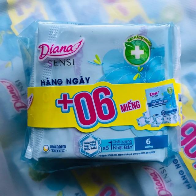 Gói băng vệ sinh Diana Sensi hàng ngày 6 miếng