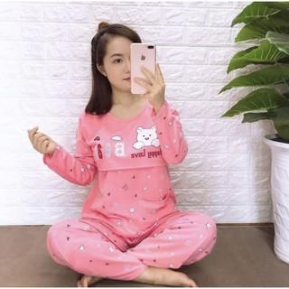 (ĐƯỢC CHỌN MÀU ) Bộ quần áo bầu và sau sinh mở nắp cho bé bú 45-65kg mã BEAR