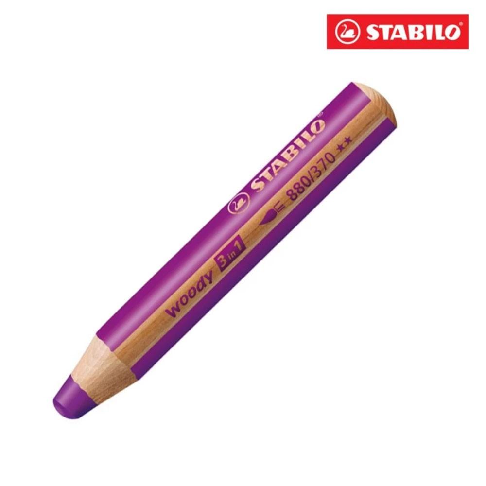 Bút chì màu STABILO Woody 3 in 1 CLK880-370 (tím nhạt)