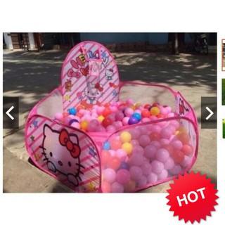 [CỰC RẺ] Lều Bóng Hello Kitty Hồng Kèm 100 Bóng