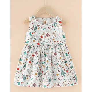 (Nowship HCM) (New Arrival 2021) Đầm bé gái dễ thương chất cotton ngộ nghĩnh, an toàn cho bé Combo 3