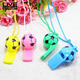 LIVE 10Pcs Soccer Football Whistle Cheerleading Party Arena Toy