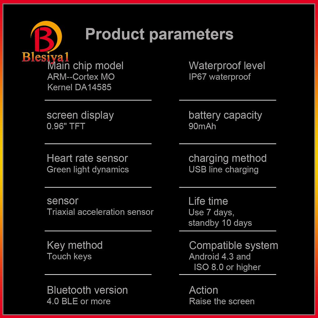 Đồng Hồ Đeo Tay Thông Minh Hỗ Trợ Đo Các Chỉ Số Sức Khỏe Có Kết Nối Bluetooth Tiện Dụng Kèm Phụ Kiện