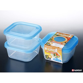 Set 2 hộp nhựa 650ml màu xanh Hàng Nhật