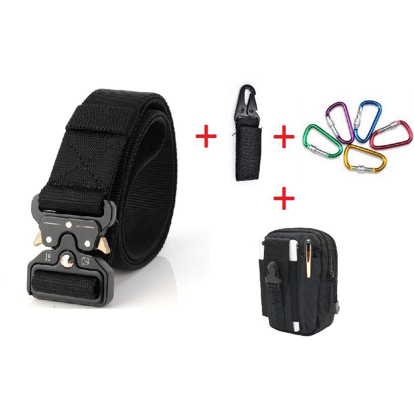 COMBO Dây Lưng Dù + 01 Balo đeo hông + 01 móc chìa khóa +01 Móc đa năng được chọn màu