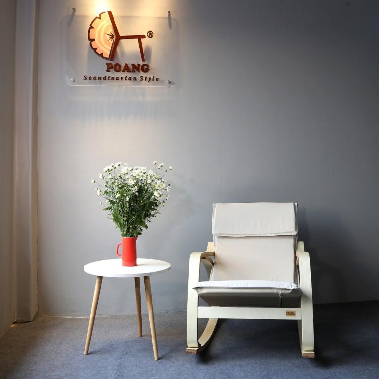 Ghế Poang - Ghế bập bênh Viking Tor khung màu gỗ tự nhiên