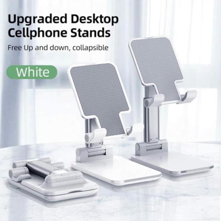 Giá đỡ điện thoại để bàn bằng kim loại có thể điều chỉnh và gập lại dùng cho iPhone iPad