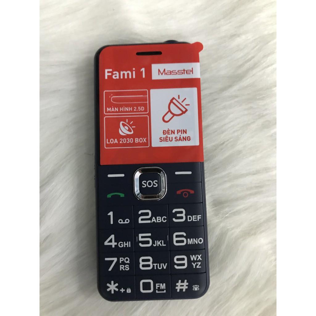 điện thoại masstel fami 1 loa to chữ to (dành cho người già ) - bảo hành  chính hãng 12 tháng