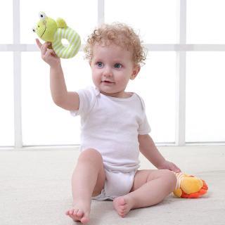 Dudu✨ Baby Soft Rattle Infant Toys Handbell Elephant Cartoon Animal Bell Hand Child Baby Plush Toys