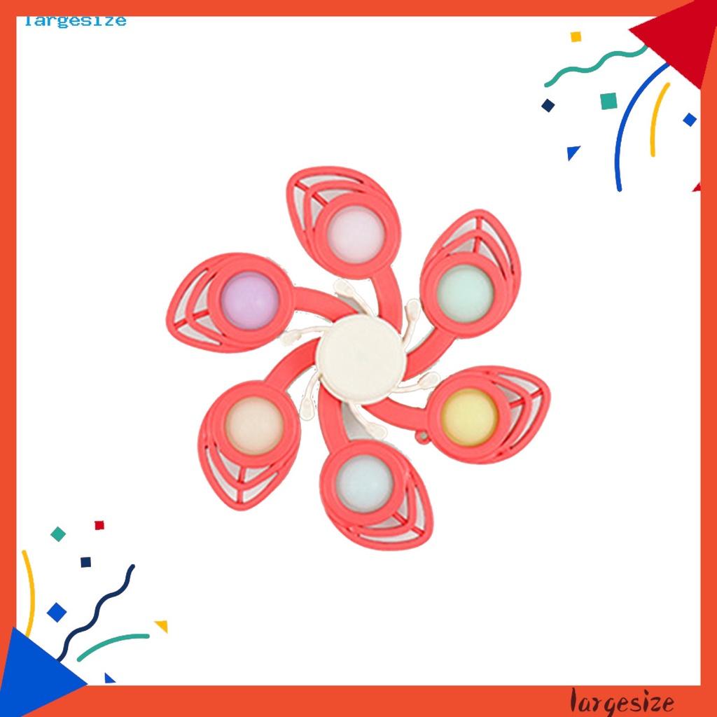 LAR_ Small Size Button Hand Spinner Finger Fidget Rotating Hand Spinner Creative for Children