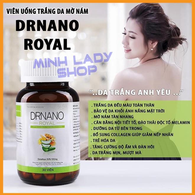 Viên Uống Trắng Da DR Nano Royal Minh Lady,[Mua 1 Tặng 3] ,Mua 2 Giảm thêm 59K, FreeShip, Trắng toàn thân, mờ nám