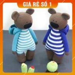 [FREESHIP] [Xả Hàng] Gấu kẻ – Gấu bông – Gấu quà tặng