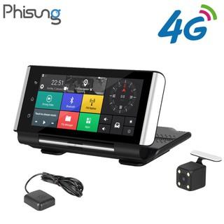 Camera hành trình đặt taplo ô tô thương hiệu cao cấp Phisung K6, 4G, wifi, 7 inch, cam lùi - Hàng Nhập Khẩu Chính Hãng