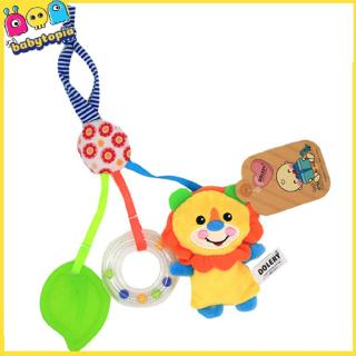 Infant Baby Rattle Cartoon Animal Models Stroller Bed Hanging Hand Bell Toys