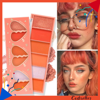 CODseller 6 Colors Waterproof Long Lasting Face Contour Brighten Rouge Blusher Cosmetic