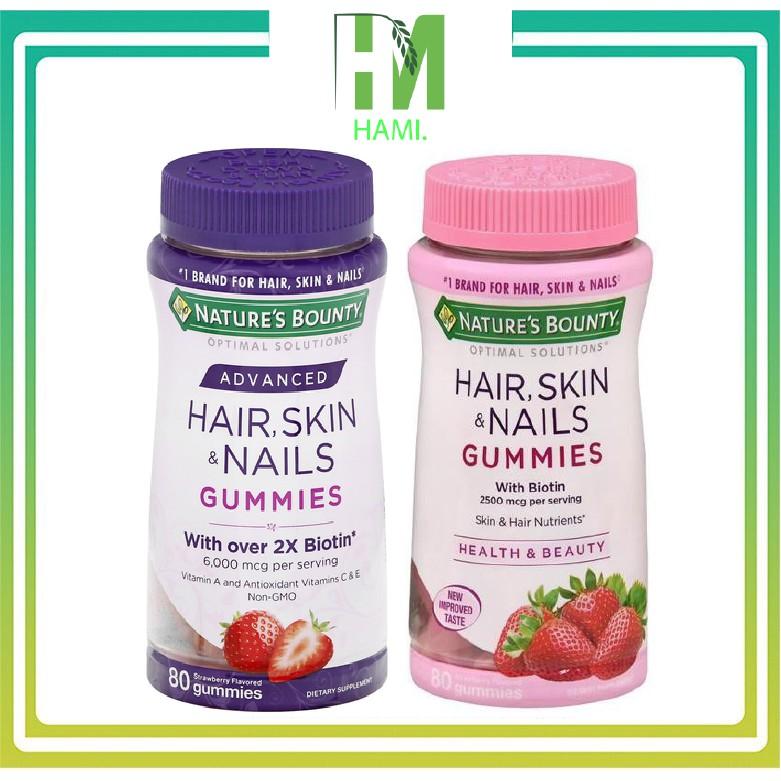 Kẹo mọc tóc Nature's Bounty Hair Skin Nails 80 viên của Mỹ [Date Xa]