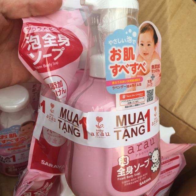 Nước rửa bình ARAU / sữa tắm gội/ nước giặt arau mua 1 t