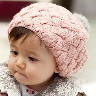 Mũ nồi len 1 quả bông, nón nồi len kiểu Hàn Quốc, mũ nồi len cho bé trai bé gái, mũ len cho bé từ 1-3 tuổi thumbnail