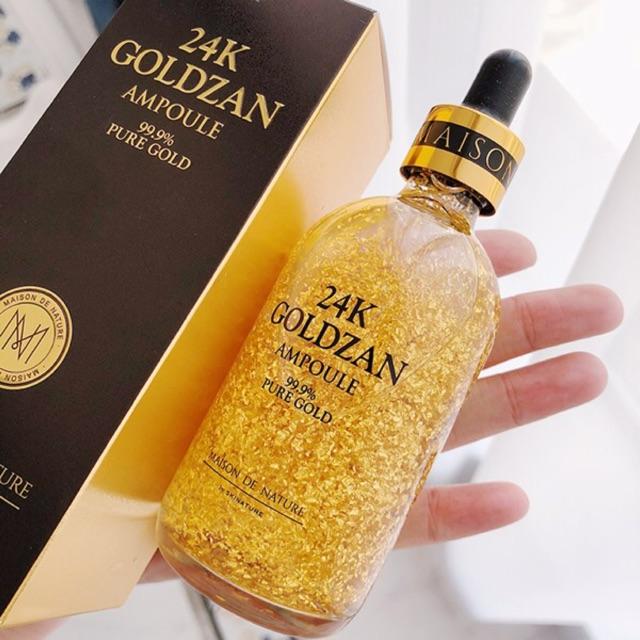 Tinh chất vàng 24k Goldzan Ampoule 99.9% (chống lão hoá,làm da mịn màng, hết nếp nhăn, giup da luôn