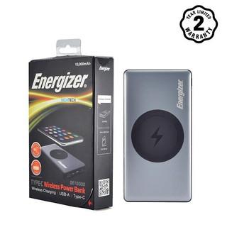 Pin sạc dự phòng Energizer QE10000 BÁO XÁM tích hợp sạc không dây 5W.