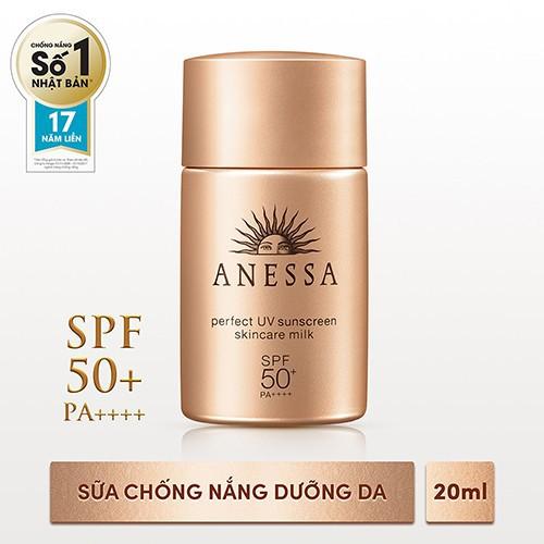 [HCM]Bộ đôi chống nắng bảo vệ hoàn hảo Anessa Perfect UV Sunscreen Skincare Milk (60ml + 20ml)_95563E