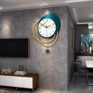Đồng hồ treo tường quả lắc trái xoan phong cách BẮC ÂU hiện đại