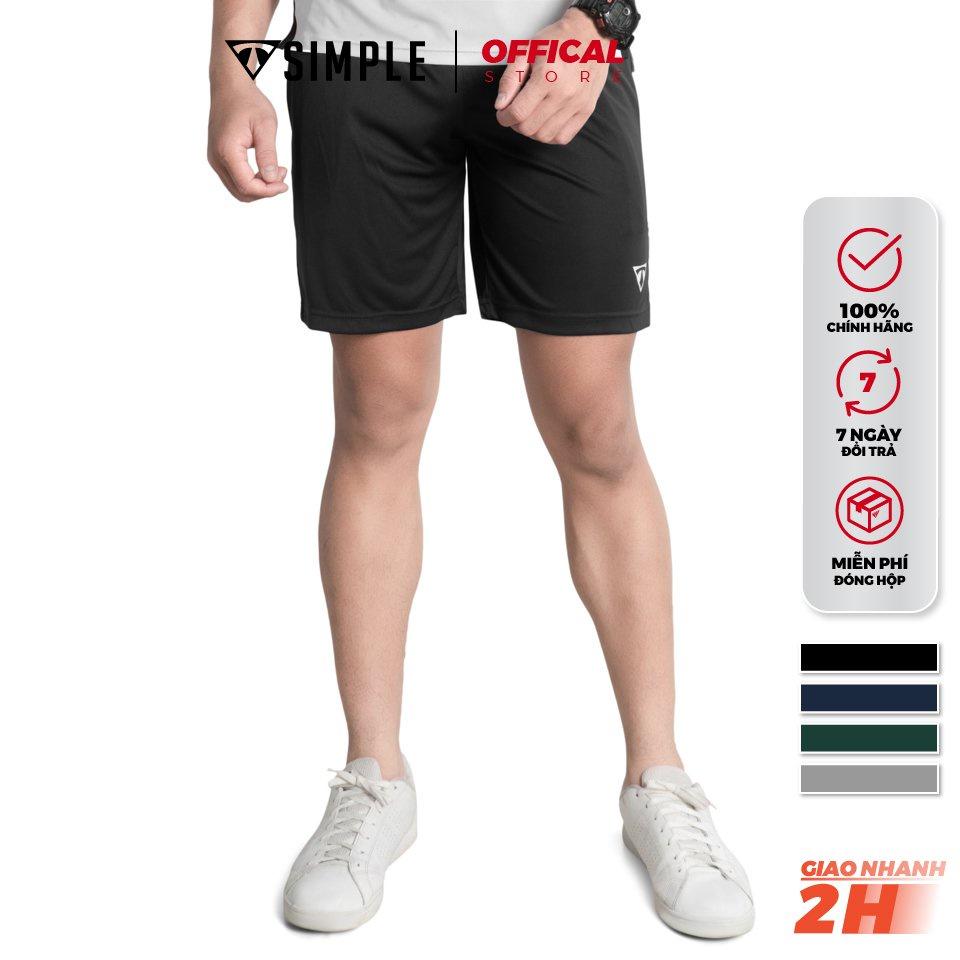 Quần Short Đùi Nam TSIMPLE vải thun lạnh thể thao tập gym thoáng mát co giãn siêu nhẹ big size màu Đen