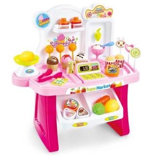 Bộ đồ chơi quầy kem , máy tính tiền 34pcs