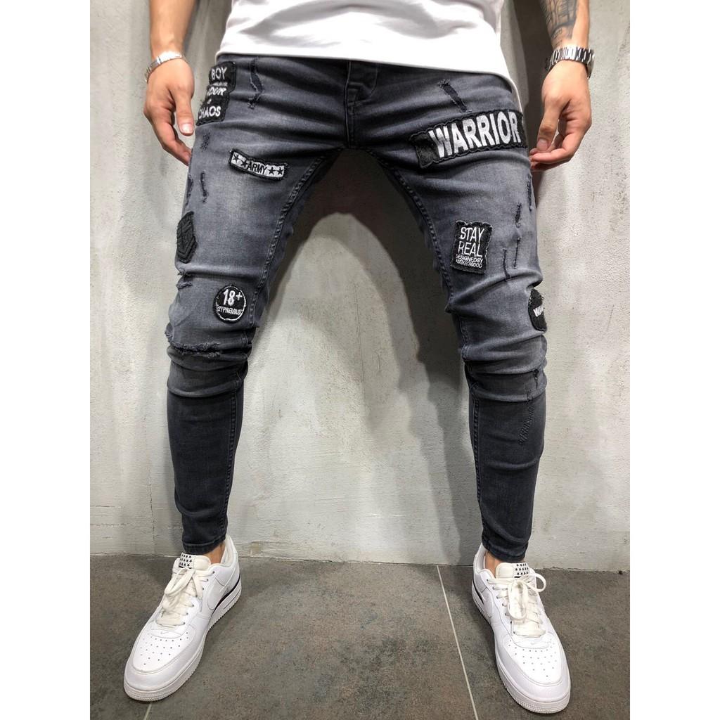 Quần Jeans Nam Màu Đen