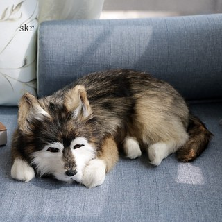 ★_Simulated Lovely Husky Dog Photography Props Desktop Home Car Decor Gift Toy
