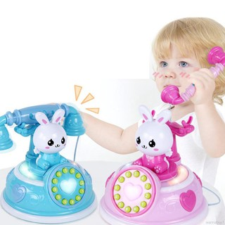 Kids Telephone Toy Smart Phone With Light Music Pretend Play Toys Child Baby Education Birthday Gifts
