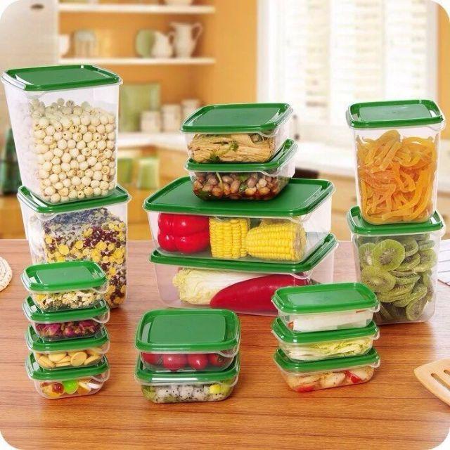 Bộ hộp nhựa 17 món | Shopee Việt Nam
