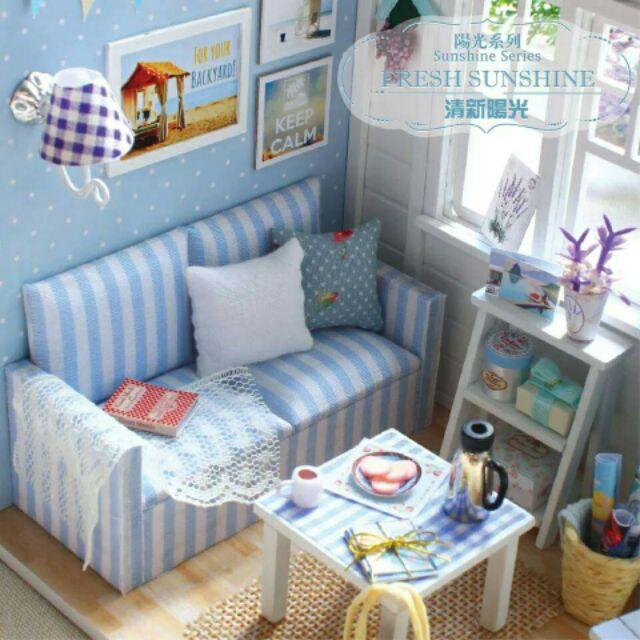 Mô hình nhà gỗ búp bê dollhouse DIY - H016 The Fresh Sunshine
