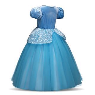 Đầm công chúa lọ lem trơn màu cho bé gái