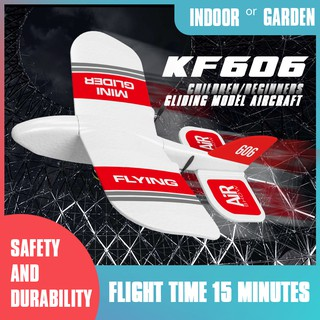 KF606 2.4Ghz RC Airplane Flying Aircraft EPP Foam Glider Toy Airplane 15 Minutes Fligt Time RTF