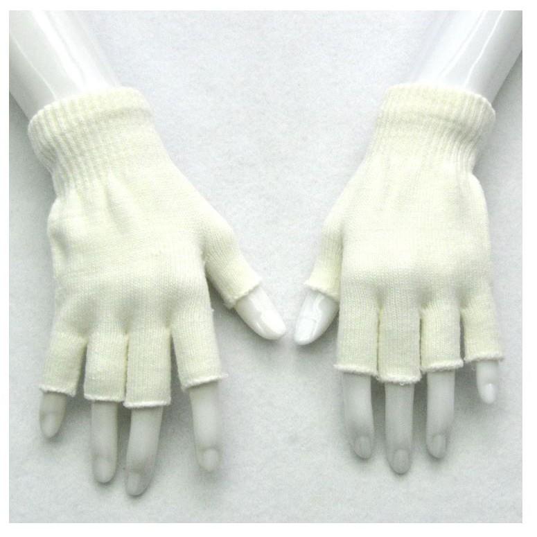 ถุงมือกันหนาว C04 ถุงมือไหมพรมแบบตัด โชว์นิ้ว เล่นมือถือง่าย ส่งทันที