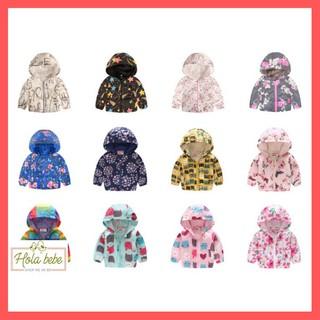 Áo khoác có mũ mùa thu cho bé trai / bé gái (90-130cm) - HT43