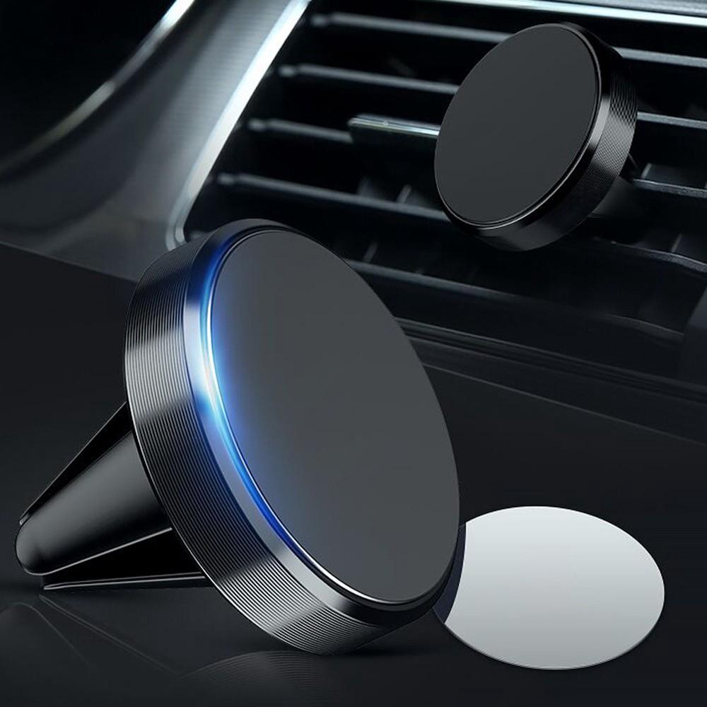 Giá đỡ điện thoại định vị GPS hít nam châm kẹp khe điều hòa tiện dụng cho xe hơi