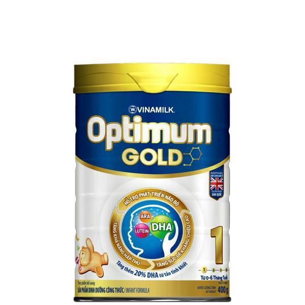 [TKB0718W3B-giảm3%-tốiđa20k] Sữa bột Optimum Gold 1: Hộp thiếc 400gram